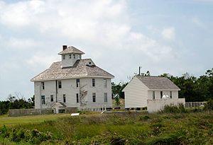 Cape Lookout Coast Guard Station - Image: Cape Lookout Coast Guard Station 2013 06 01