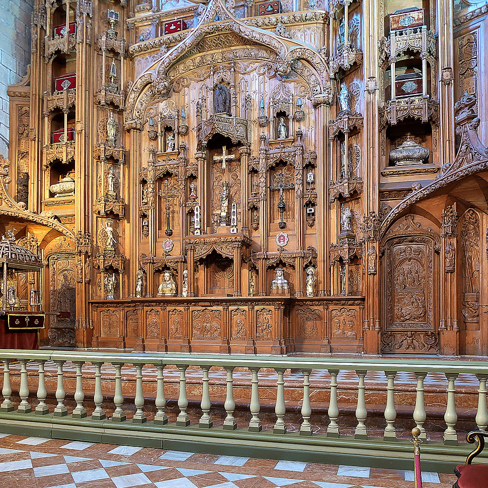 Capilla de las Reliquias, Santiago de Compostela. Retablo
