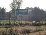 Capital Region International Airport Sign Delhi Twp US-127.jpg