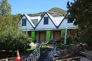 Charles Simeon (colonist) - Captain Simeon's house undergoing earthquake repairs in 2016
