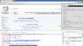 Captura de pantalla de Chromium 47 mostrando Wikipedia en español, Chromium Inspector y botones de aplicaciones.png