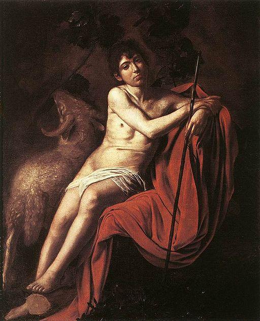 Caravaggio Baptist Galleria Borghese, Rome