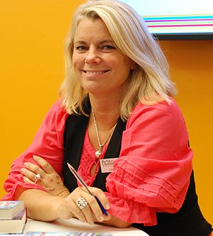 Carin Hjulström - Hjulström during a book signing at the Gothenburg Book Fair in 2010.