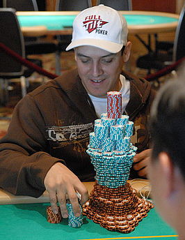 Mortensen tijdens het $25.000 World Poker Tour No Limit Hold'em Championship in 2007