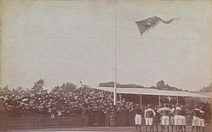 AFL Grand Final - Carlton Football Club hoist the 1906 VFL premiership flag at Princes Park in 1907