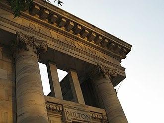 Carnegie Education Pavilion - Image: Carnegie Monument