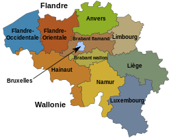 Carte des provinces belges.svg