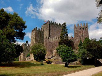 Guimarães Castle - The 10th-century Castle of Guimarães, a national symbol referred to as the Cradle of Portugal