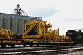 Caterpillar mining dump trucks await export, Port of Houston (6859400894).jpg