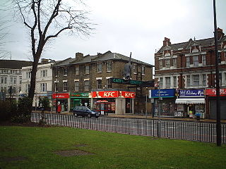 Catford district in south London, England