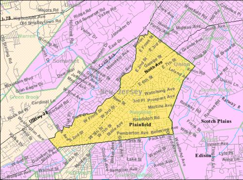 Plainfield New Jersey Wikiwand - Mapa de new jersey