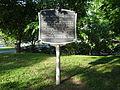 Centennial Park, Major Wilbur Fisk Foster historical marker.JPG