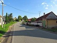 Center of Šemíkovice, Třebíč District.JPG