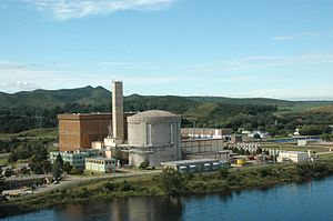 Embalse Nuclear Power Station - Image: Central Nuclear Embalse aerea