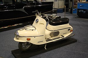 Cezeta scooter at Regiontour 2010.jpg