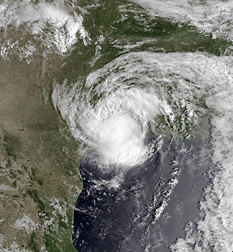 1989 Atlantic hurricane season - Image: Chantal Aug 1 1989 1428Z