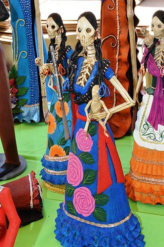 La Calavera Catrina -  Figures by Michoacan artisan Emilio Barocio Yacobo at the 2015 Feria de los Maestros del Arte in Chapala, Jalisco.