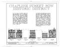 Chapline Street Row Historic District, 2301-2319 Chapline Street, Wheeling, Ohio County, WV HABS WVA,35-WHEEL,9- (sheet 1 of 3).png