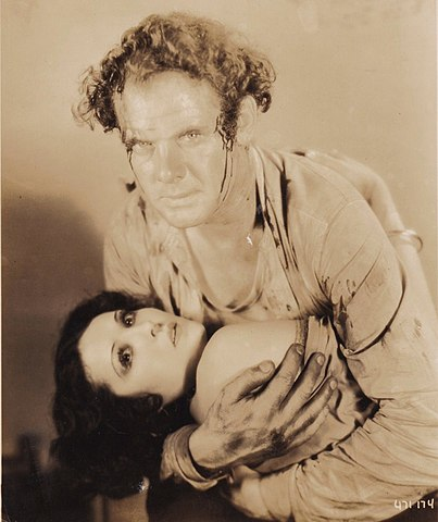 Charles Bickford-Raquel Torres in the Sea Bat.jpg