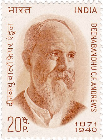 Charles Freer Andrews - Andrews on a 1971 stamp of India