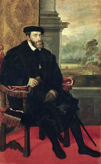 Cuius regio, eius religio - Charles V, Holy Roman Emperor and King of Spain, instructed his brother to settle disputes relating to religion and territory at the Diet of Augsburg in 1555.