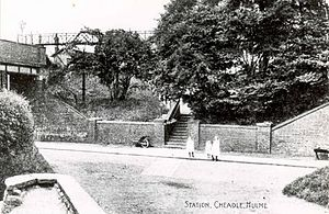 Cheadle Hulme railway station - The station front c. 1900