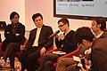 Chen Xiaoying (Les écrivains de Shanghai) et Zhao Lihong (Littérature de Shanghai), Hugo Pradelle (La Quinzaine Littéraire) (13399851763).jpg