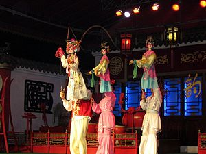 Sichuanese opera - Fancy marionette figure used as part of the show