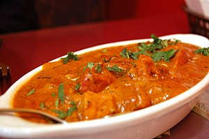 Curry - Butter chicken served in an Indian restaurant