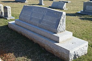 National Register of Historic Places listings in Floyd County, Virginia - Image: Childress grave at Buffalo Mountain cemetery