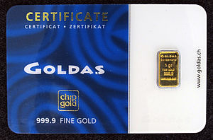 Goldaş - Chip gold bullion bar