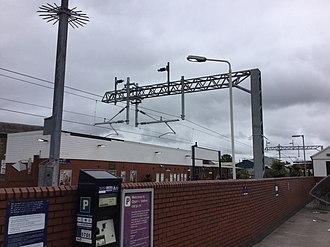 Chorley railway station - Chorley Railway Station 27 August 2018 undergoing electrification work