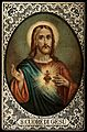 Christ showing his Sacred Heart. Colour lithograph. Wellcome V0035639.jpg