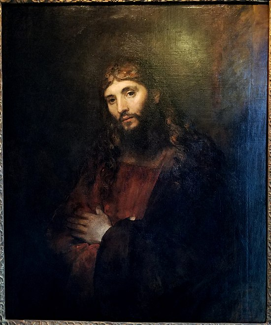 Christ with Arms Folded, by Rembrandt van Rijn, c. 1657-1661, oil on canvas - Hyde Collection - Glens Falls, NY - 20180224 115743.jpg