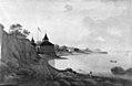 """Christian David Gebauer - Landskab ved en bugt. Parti fra """"Alexandria"""" ved Vedbæk - KMS948 - Statens Museum for Kunst.jpg"""