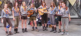 Girl Guides - Singing Girl Guides in Germany, 2007