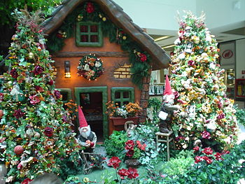 Christmas decoration at a shopping mall in Brazil