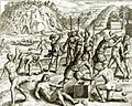 Christopher Columbus' Soldiers Chop the Hands off of Arawak Indians who Failed to Meet the Mining Quota.jpg