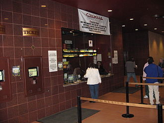 Hampshire Mall - The ticket stand at the Cinemark movie theater in the Hampshire Mall