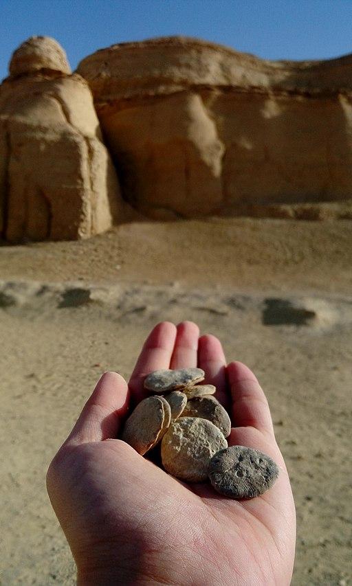 Circle shaped rocks of Modawara Mountain, Wadi El-Rayyan, Fayoum, Egypt