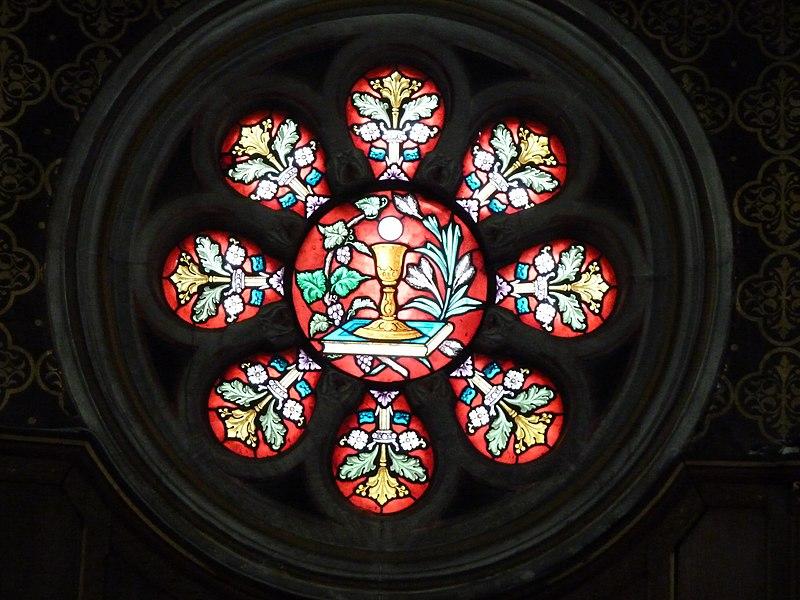 Cirey-sur-Vezouze maison de retraite vitrail de la chapelle