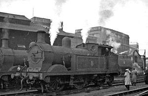 Stewarts Lane - H class 0-4-4T No. 31265 at Stewarts Lane 15 February 1958