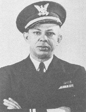 Clarence Samuels - Lieutenant Junior Grade Clarence Samuels  First Hispanic of African descent commanding officer of a Coast Guard vessel during wartime