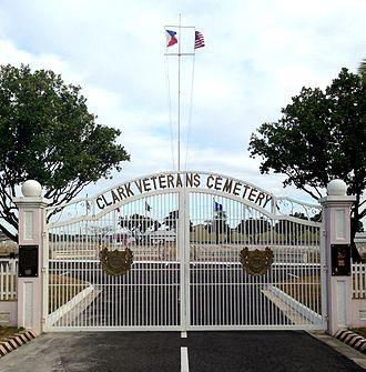 Clark Veterans Cemetery - Image: Clark Cemetery Entrance Gate