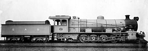South African type MT tender - Image: Class 12A no. 2111