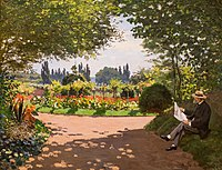 Claude Monet, Adolphe Monet in the Garden of Le Coteau at Sainte-Adresse, 1867.jpg