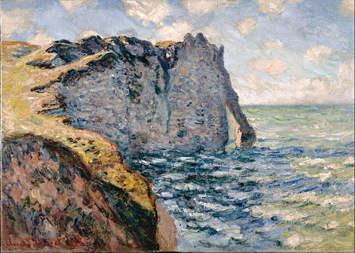Claude Monet - The Cliff of Aval, Etrétat - Google Art Project