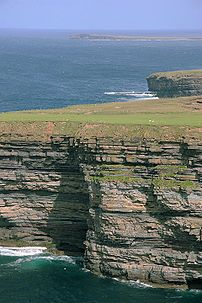 Cliffs along the Atlantic coastline of County ...