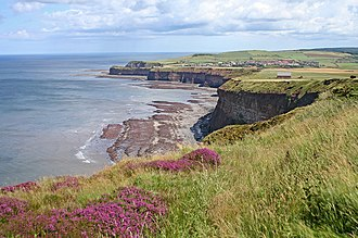Boulby - Cliffs and foreshore at Boulby