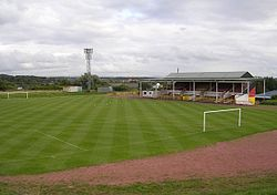 Cliftonhill Park Football Ground, Coatbridge.jpg